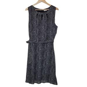 REITMANS Dress Sleeveless Midi Dotted Black White